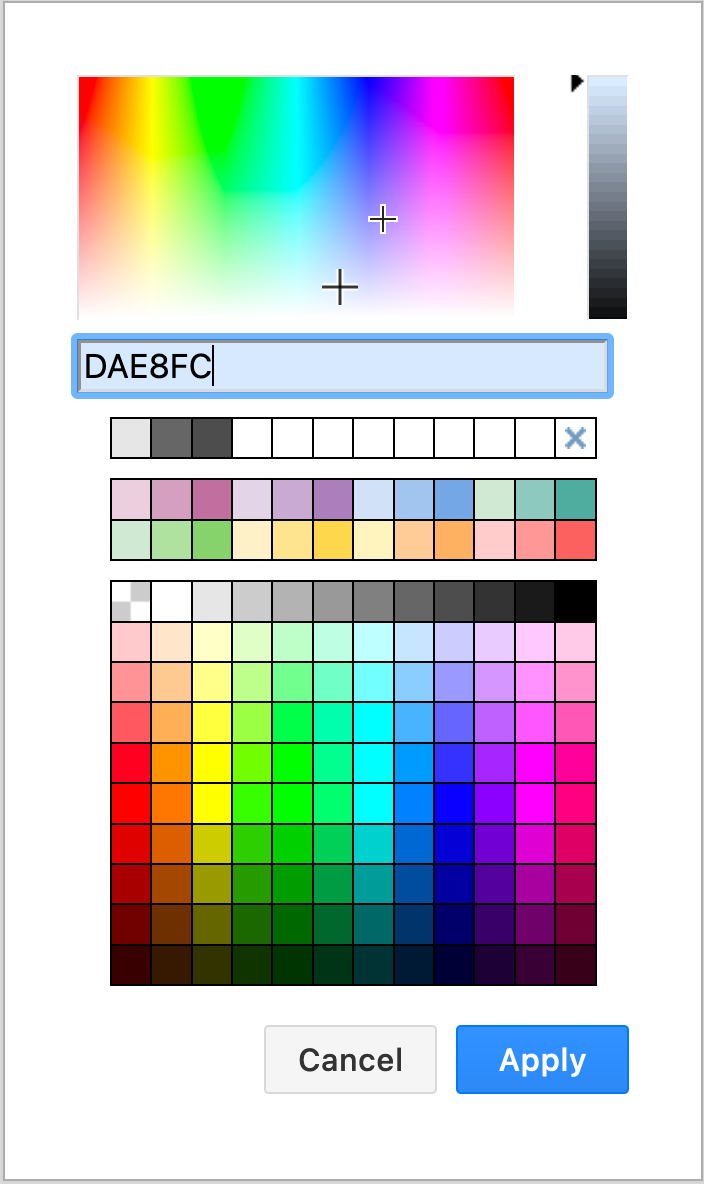 Select a new fill colour from the colour palette