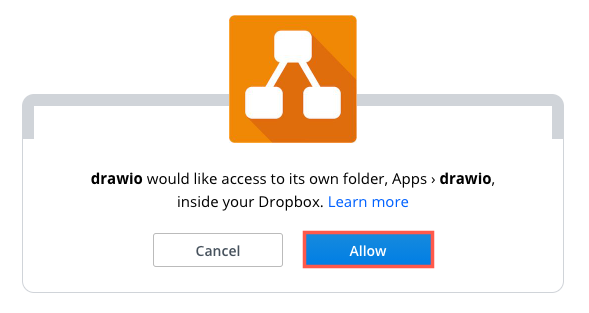 Allow diagrams.net to use Dropbox as a storage location for your diagram files