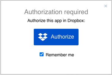 Authorise diagrams.net to access diagram files stored in your Dropbox account