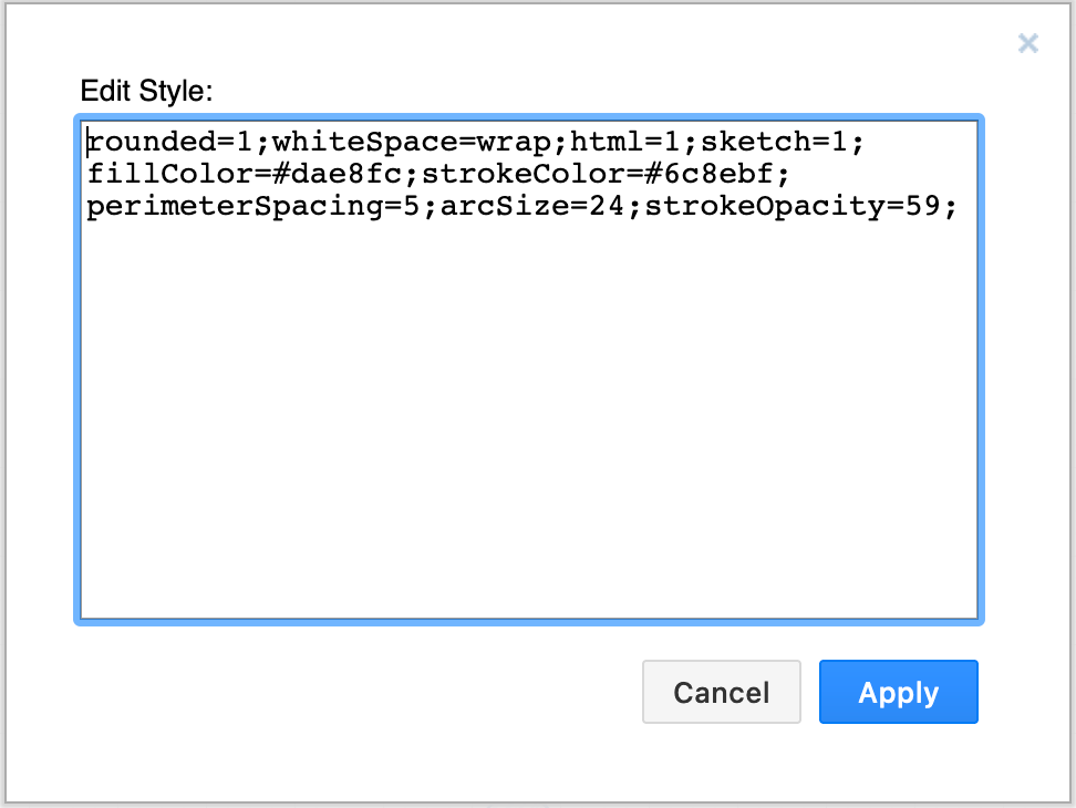 Edit the XML description of a shape to define its style and behaviour