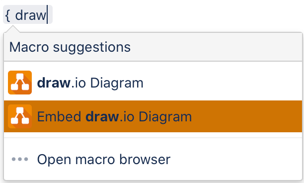 Add the Embed draw.io Diagram macro to your Confluence page