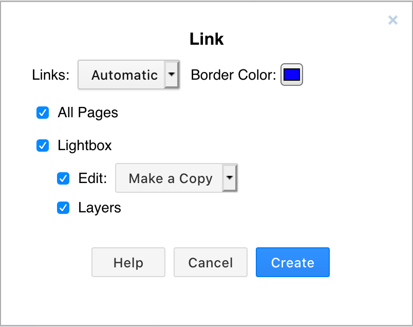 Viewer options when publishing your diagram as a link from Google Drive