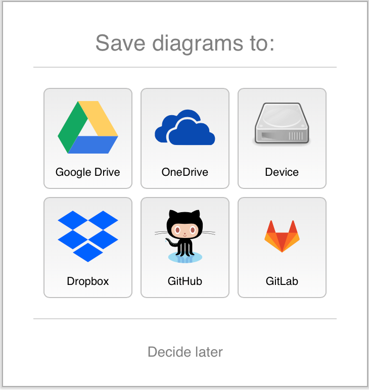 Select the location where you want to save your diagram files