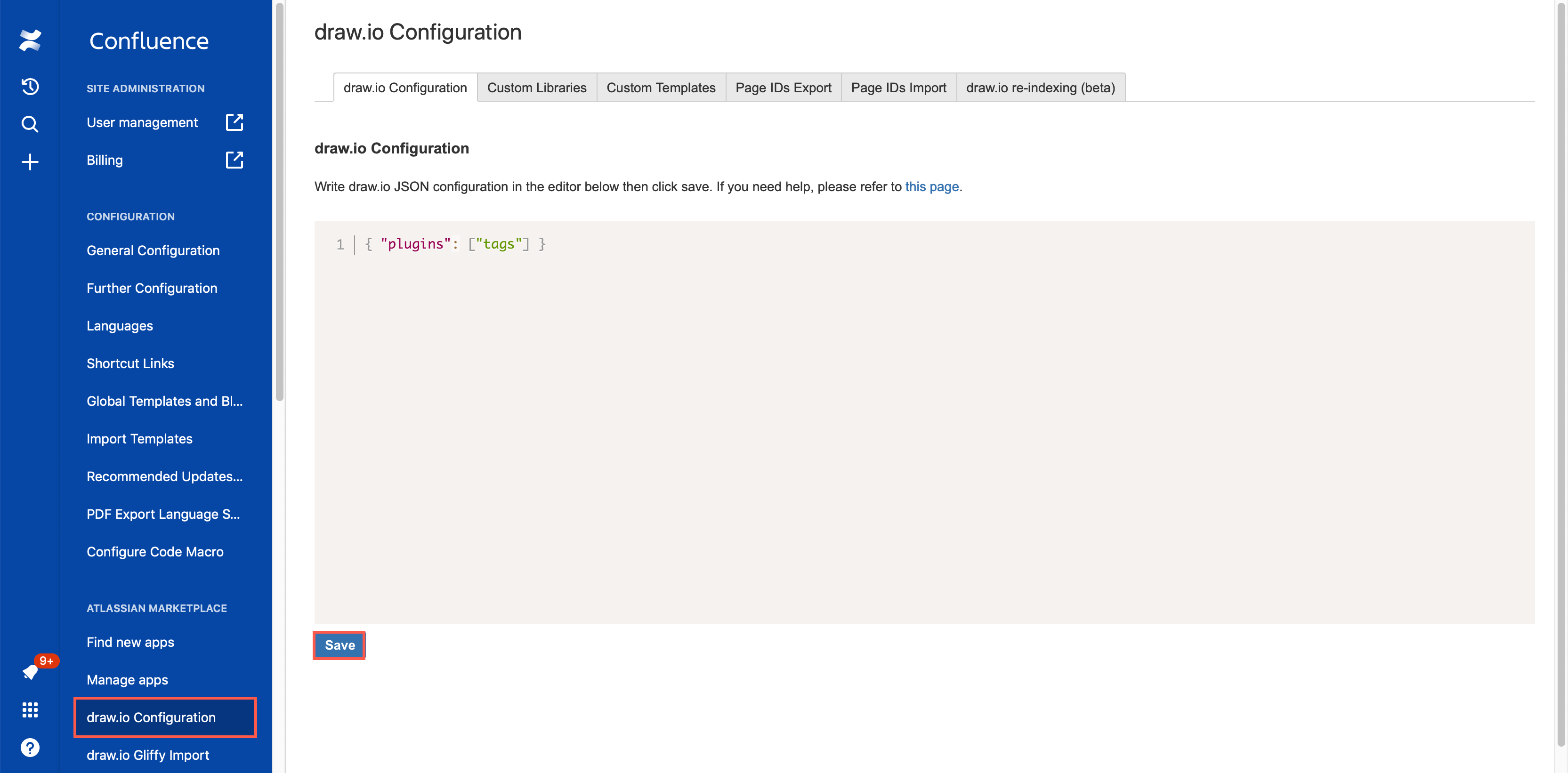 Add the tags plugin to draw.io in Confluence Cloud