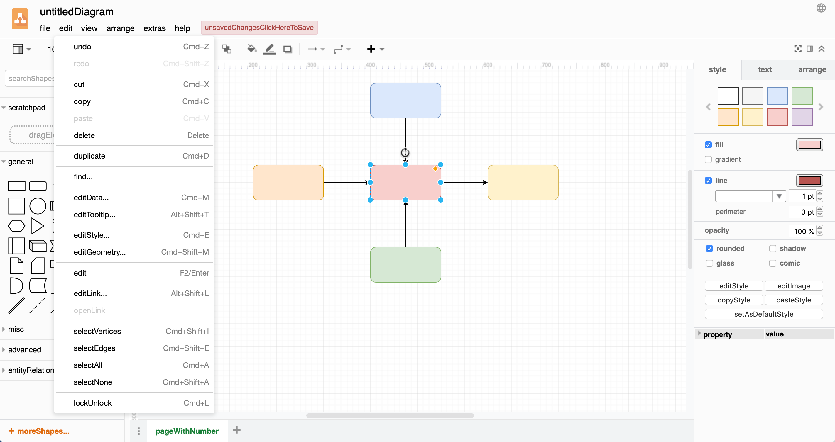 See where the strings appear in context in the diagrams.net interface to help you translate